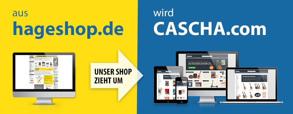 Aus hageshop.de wird CASCHA.com