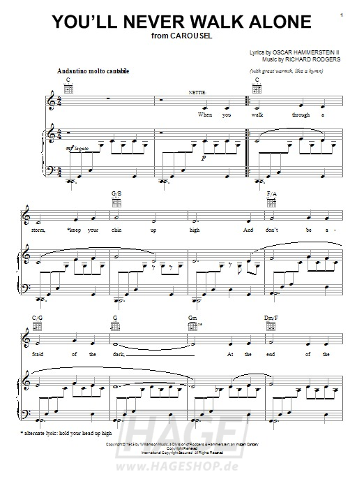 You'll Never Walk Alone (from Carousel) - Rodgers & Hammerstein - Noten Druckvorschau