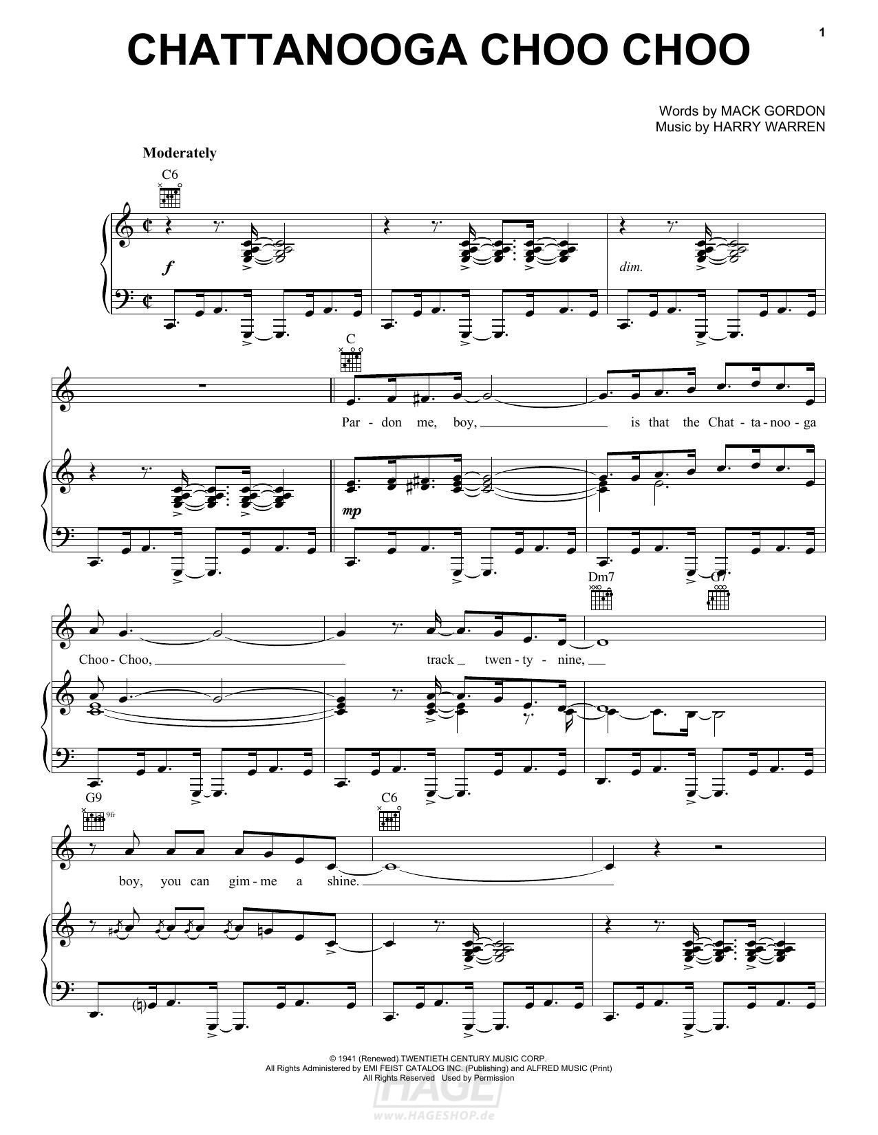 Chattanooga Choo Choo - Glenn Miller - Noten Druckvorschau