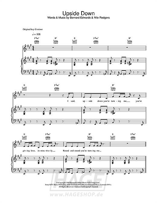 Upside Down - Diana Ross - Noten Druckvorschau