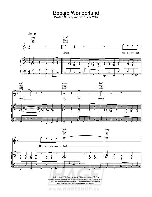 Boogie Wonderland - Earth, Wind & Fire - Noten Druckvorschau