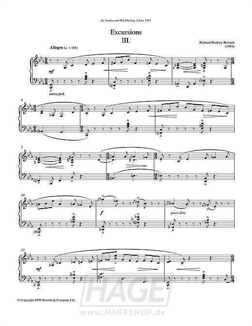 Excursions III - Richard Rodney Bennett - Noten Druckvorschau