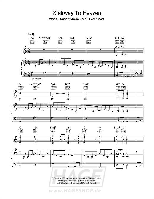 Stairway To Heaven - Led Zeppelin - Noten Druckvorschau