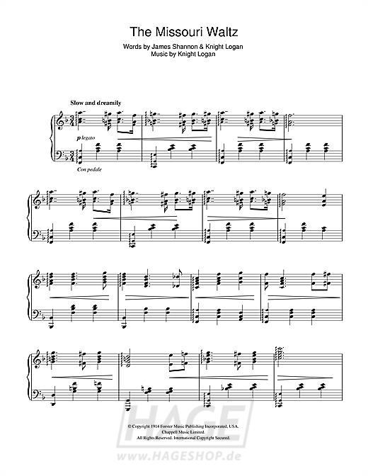 The Missouri Waltz - Glenn Miller - Noten Druckvorschau