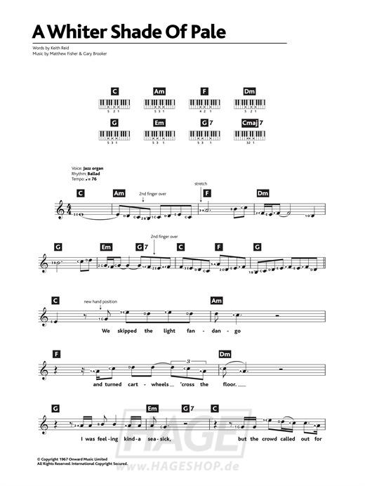 A Whiter Shade Of Pale - Procol Harum - Noten Druckvorschau