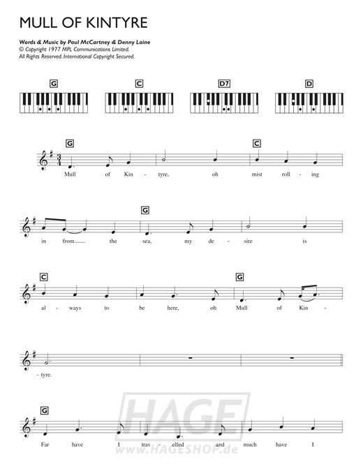 Mull Of Kintyre - Paul McCartney & Wings - Noten Druckvorschau