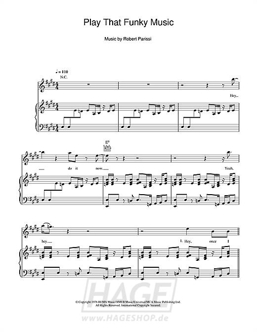 Play That Funky Music - Wild Cherry - Noten Druckvorschau