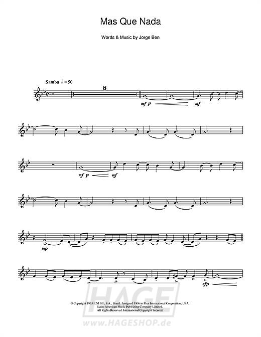 Mas Que Nada (Say No More) - Sergio Mendes - Noten Druckvorschau