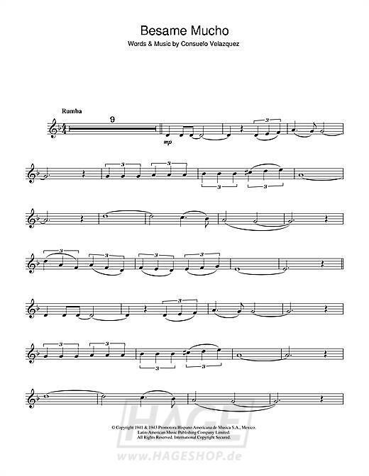 Besame Mucho (Kiss Me Much) - Consuelo Velazquez - Noten Druckvorschau