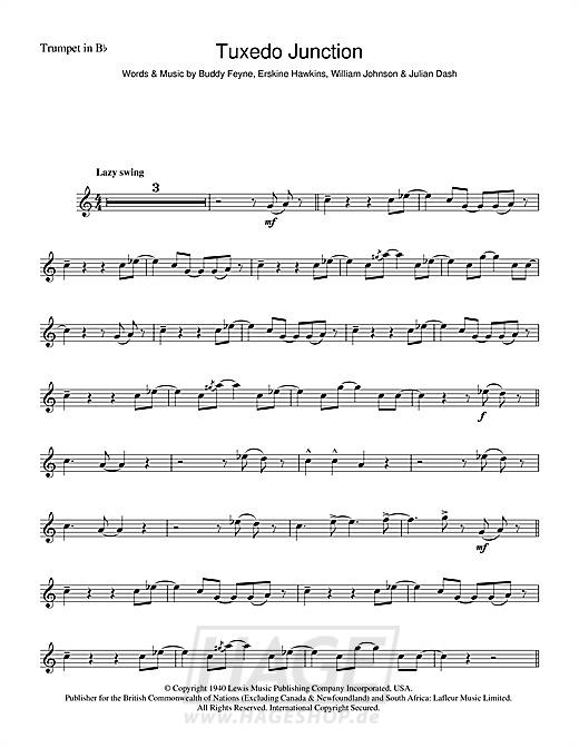 Tuxedo Junction - Glenn Miller - Noten Druckvorschau