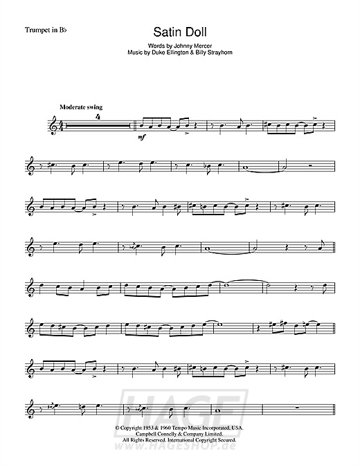 Satin Doll - Duke Ellington - Noten Druckvorschau