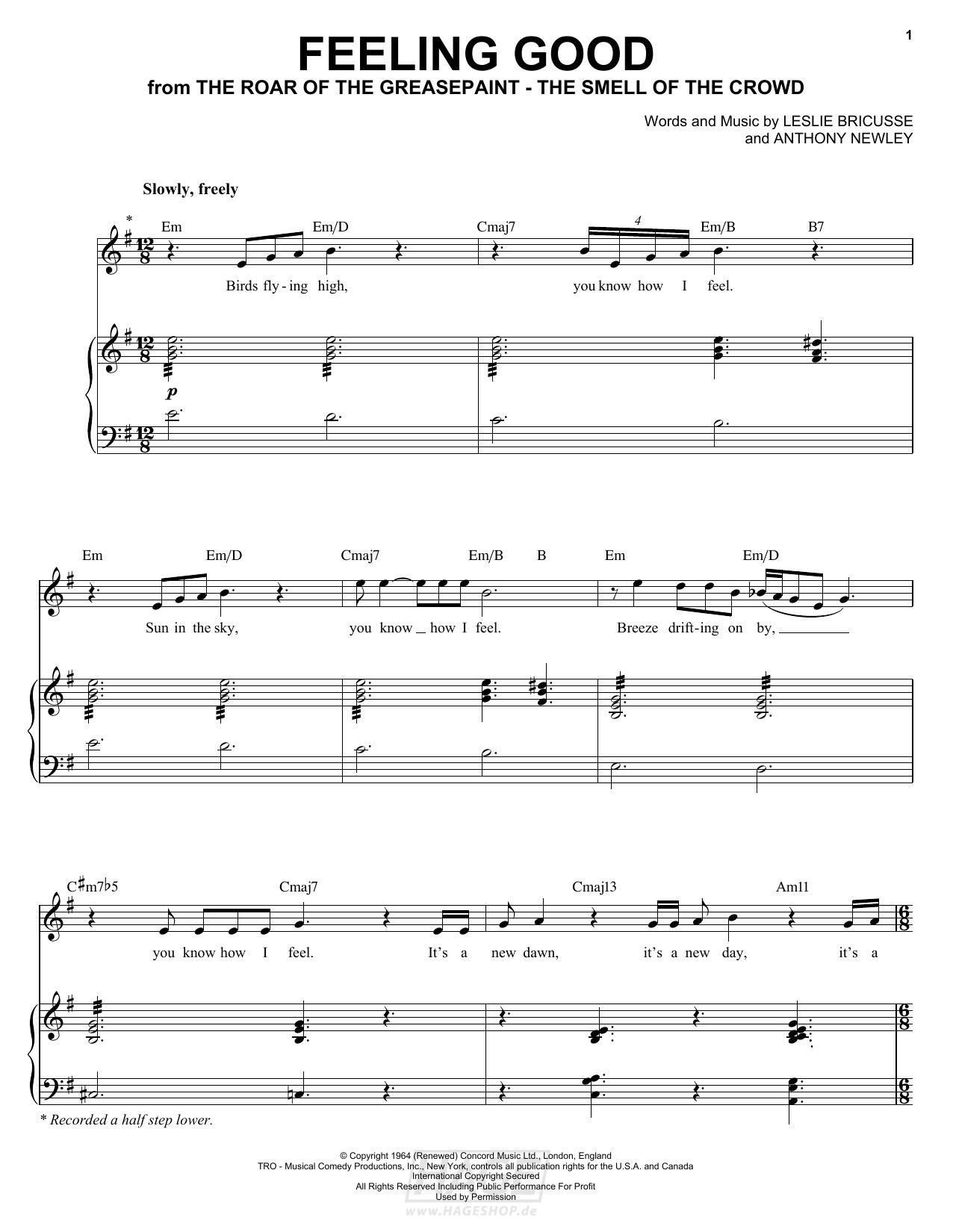 Feeling Good - Michael Buble - Noten Druckvorschau