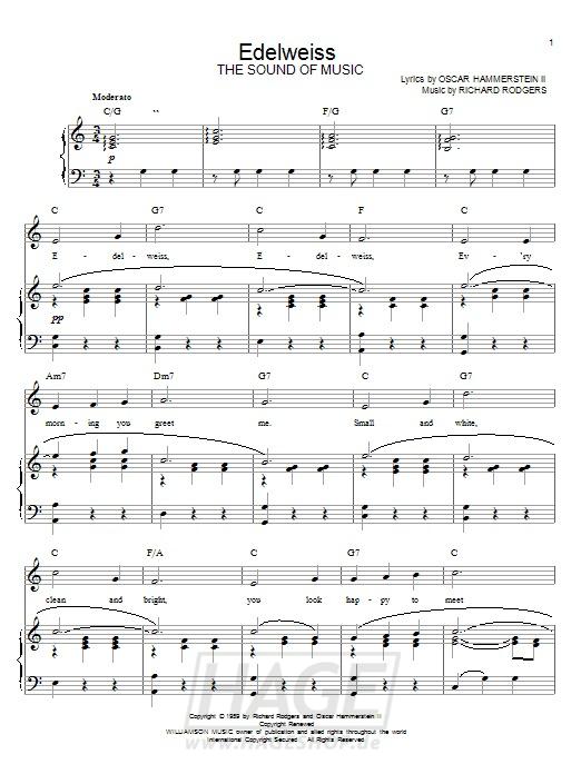 Edelweiss - Rodgers & Hammerstein - Noten Druckvorschau