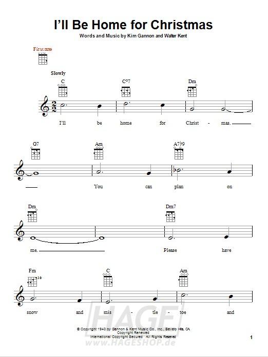 I'll Be Home For Christmas - Bing Crosby - Noten Druckvorschau