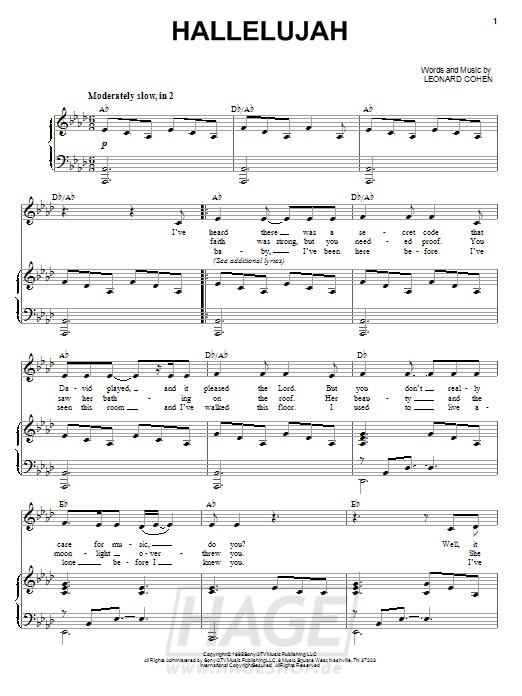 Hallelujah - Allison Crowe - Noten Druckvorschau