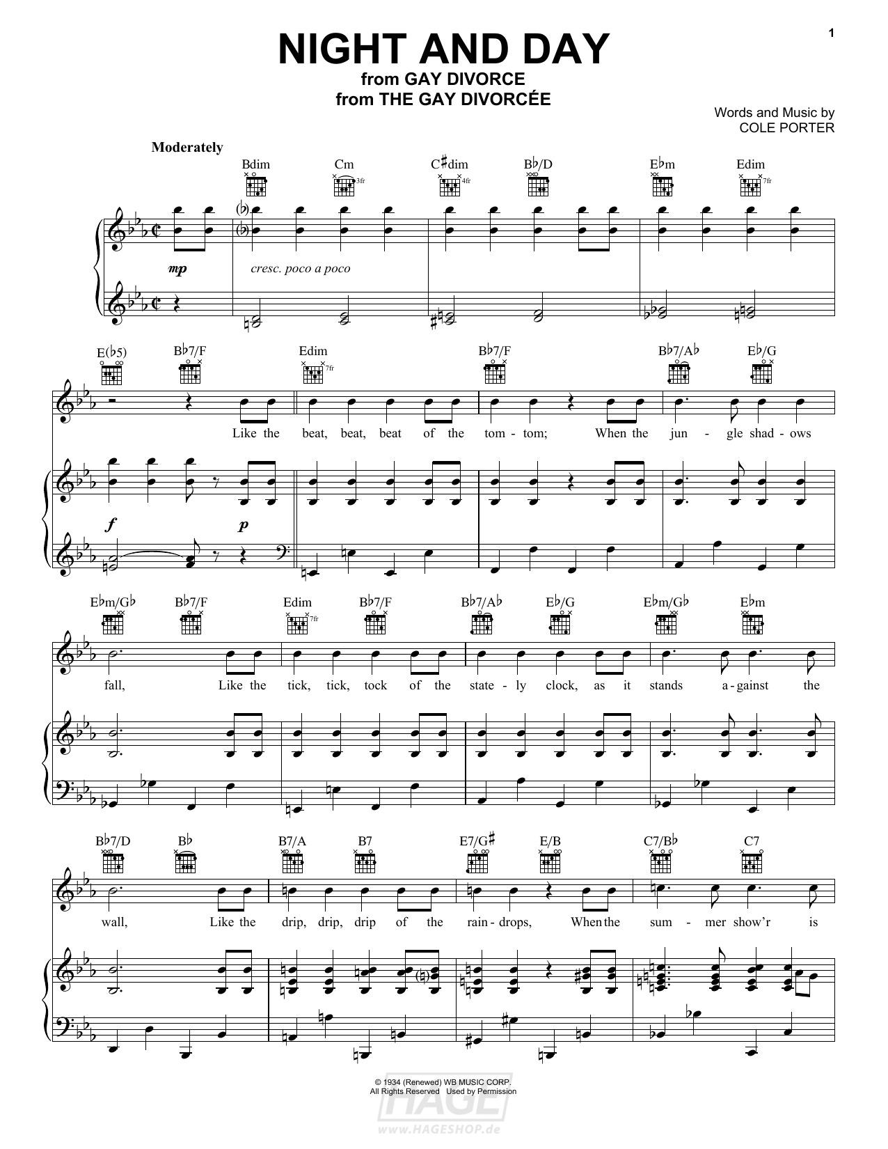 Night And Day - Cole Porter - Noten Druckvorschau