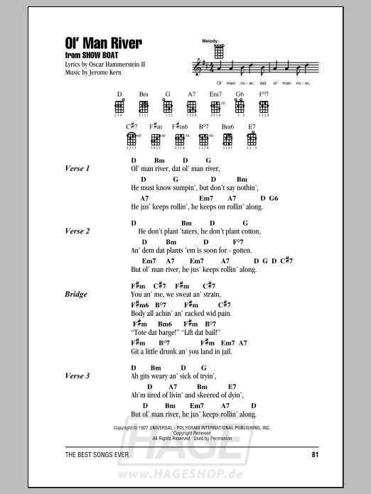 Ol' Man River - Jerome Kern - Noten Druckvorschau