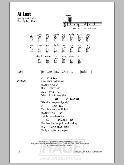 At Last - Glenn Miller & His Orchestra - Noten Druckvorschau