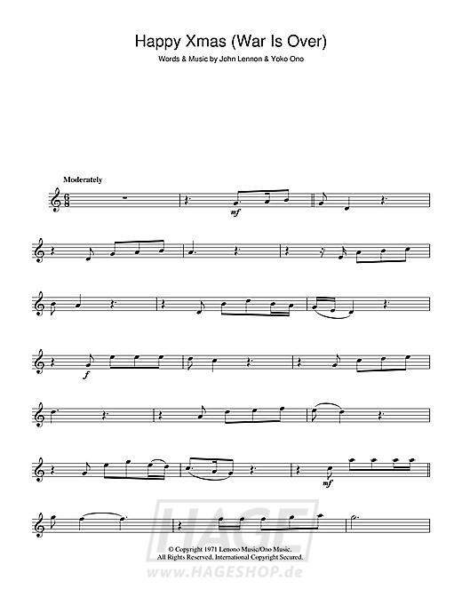 Happy Xmas (War Is Over) - John Lennon - Noten Druckvorschau