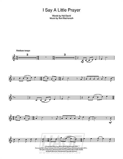 I Say A Little Prayer - Aretha Franklin - Noten Druckvorschau