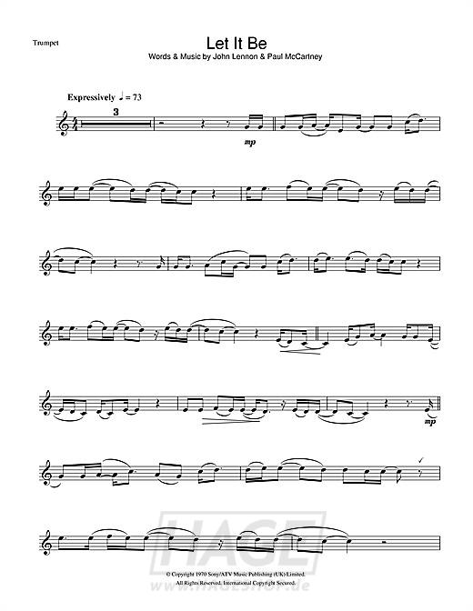Let It Be - The Beatles - Noten Druckvorschau