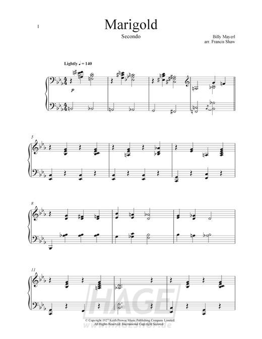 Marigold - Billy Mayerl - Noten Druckvorschau