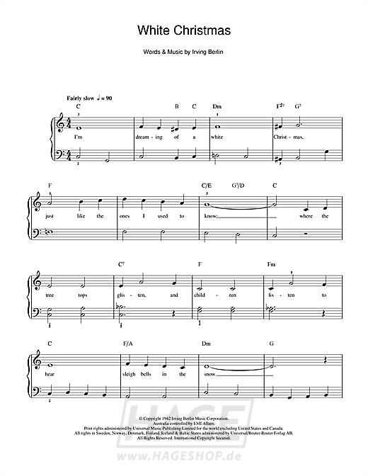 White Christmas - Bing Crosby - Noten Druckvorschau