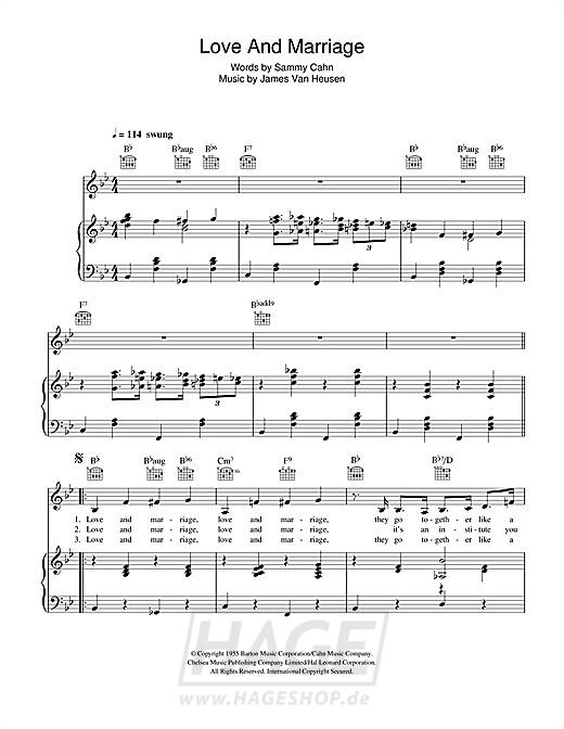 Love And Marriage - Frank Sinatra - Noten Druckvorschau