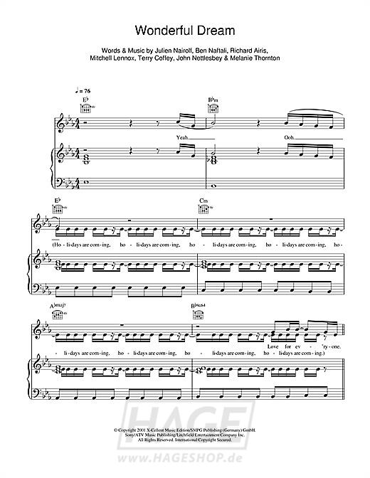Wonderful Dream (Holidays Are Coming) - Melanie Thornton - Noten Druckvorschau