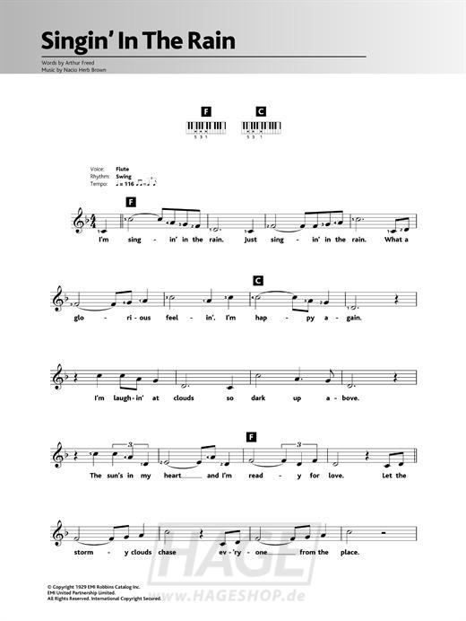 Singin' In The Rain - Gene Kelly - Noten Druckvorschau