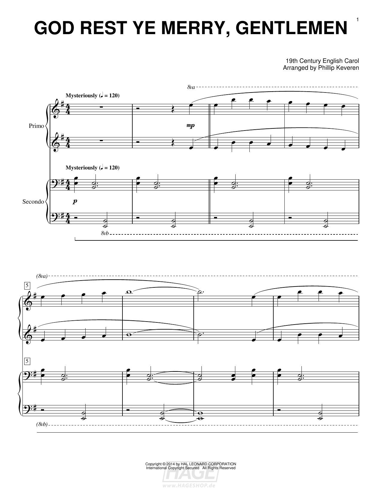 God Rest Ye Merry, Gentlemen - Phillip Keveren - Noten Druckvorschau
