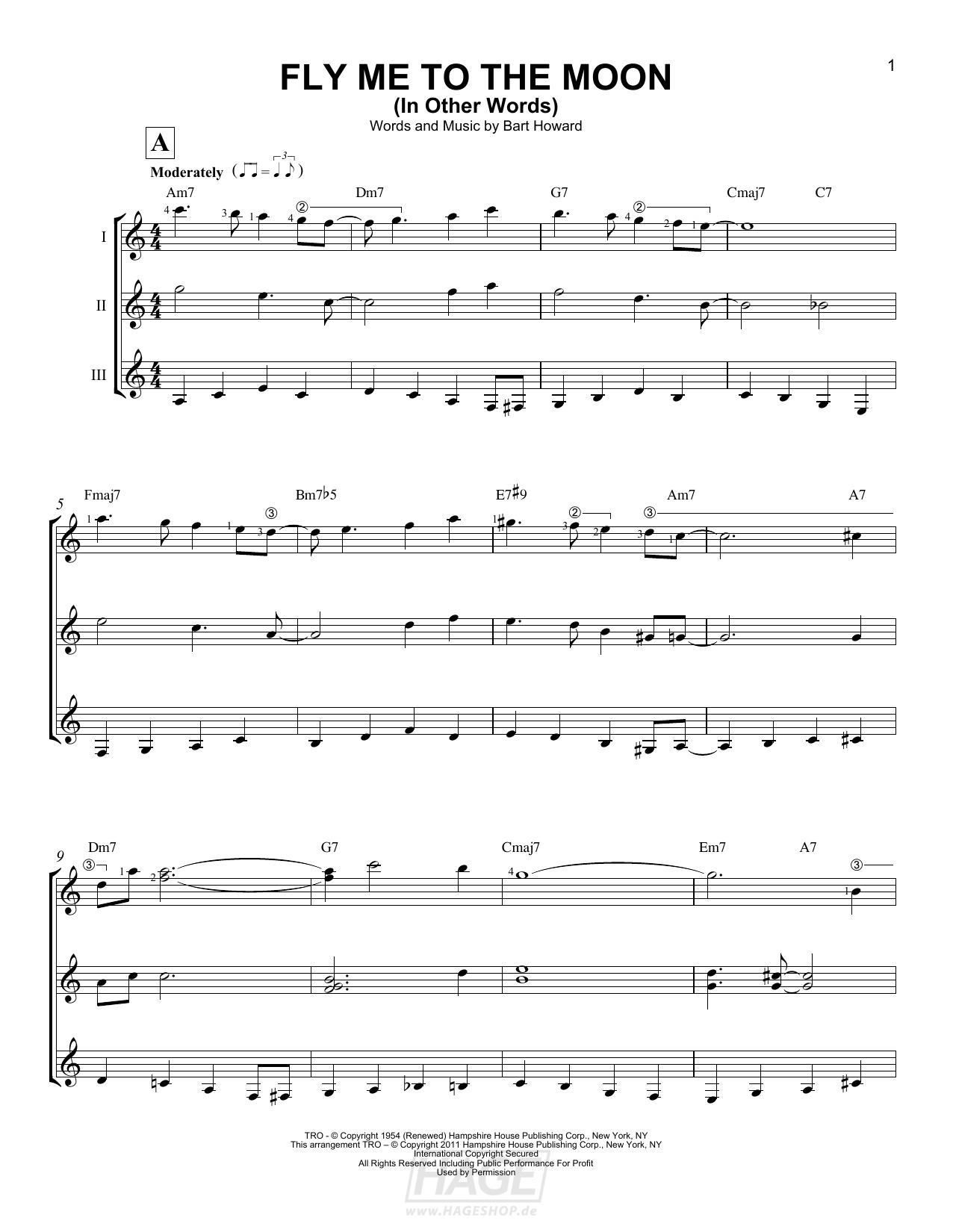 Fly Me To The Moon (In Other Words) - Frank Sinatra - Noten Druckvorschau
