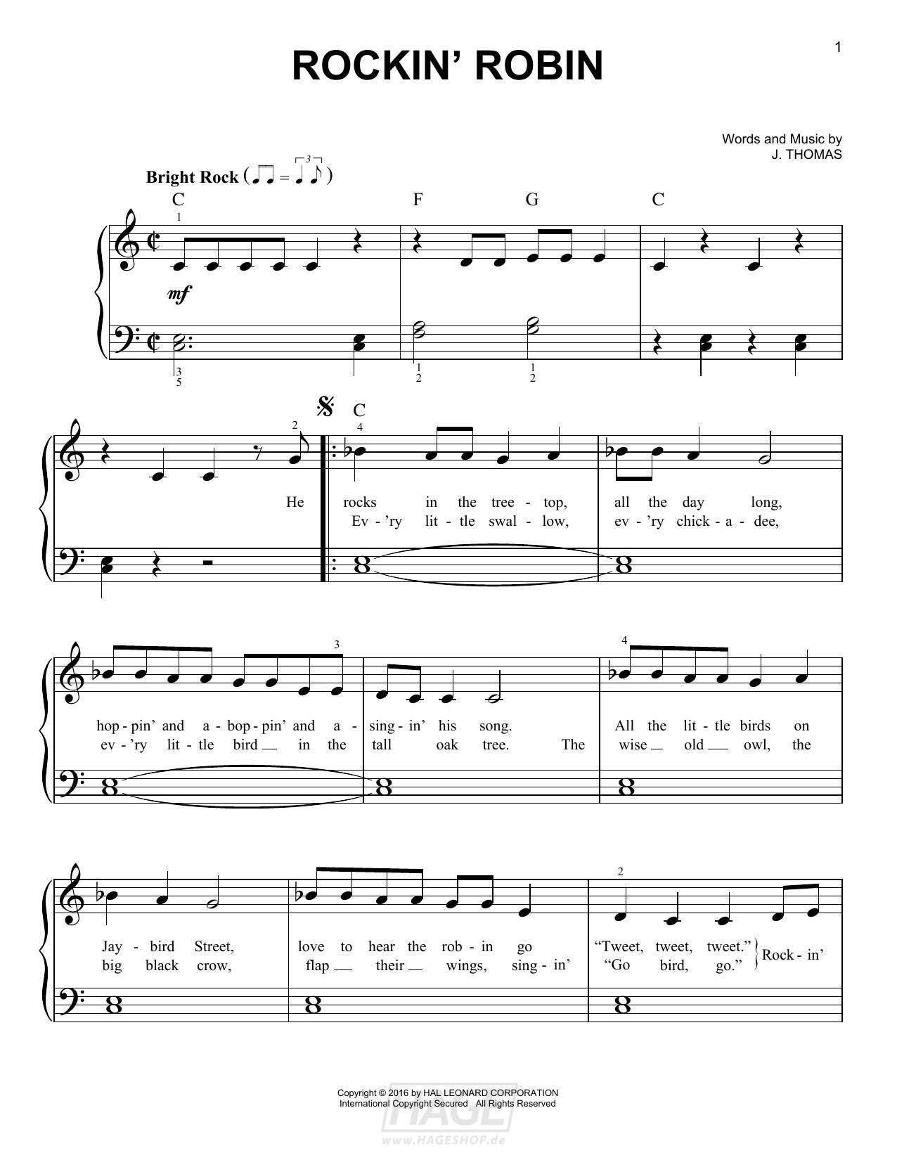 Rockin' Robin - Michael Jackson - Noten Druckvorschau