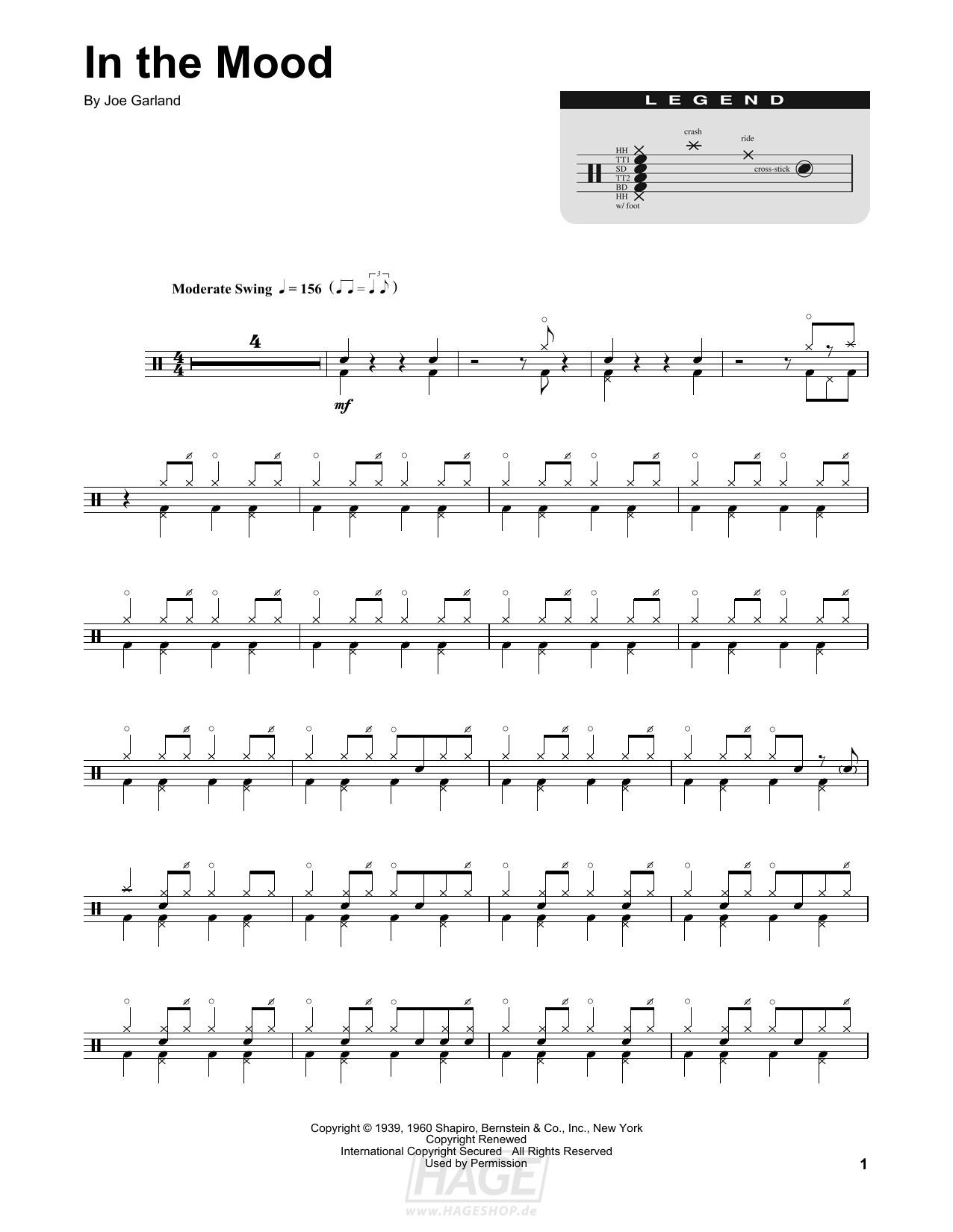 In The Mood - Glenn Miller & His Orchestra - Noten Druckvorschau